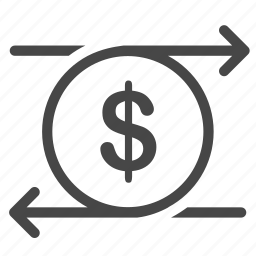 business, cash flow, currency, exchange, stocks, trade, trading icon