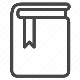 book, bookmark, data, education, reading list, study, watch list icon