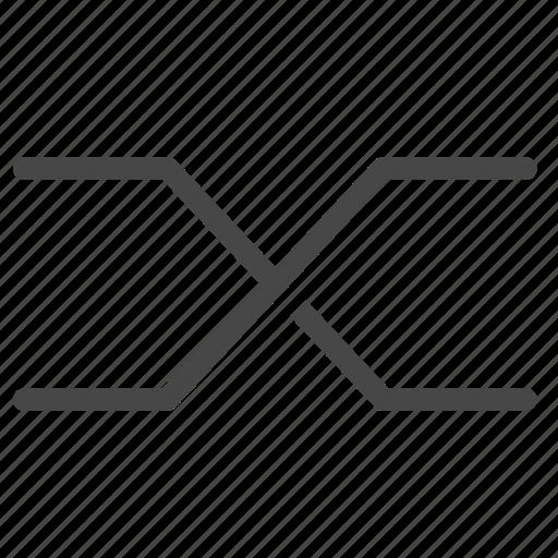 business, crossover, data, diagram, graph, statistics, stocks icon