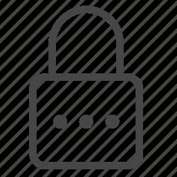 lock, login, password, safe, secret, secure, security icon