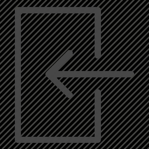access, arrive, door, login, pass, password, sign in icon