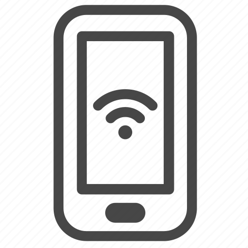 alert, mobile, notification, smartphone, stocks, wifi, wireless icon