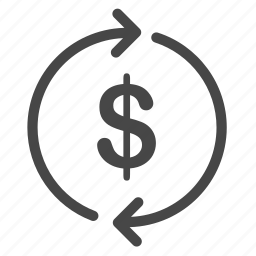 cash flow, currency, cycle, exchange, finance, refinance, stocks icon
