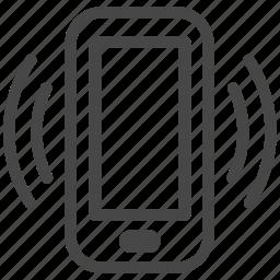 alert, device, mobile, notification, smartphone, stocks, vibrate icon