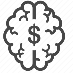 brain, investor, mind, mindset, money, think, thinking icon