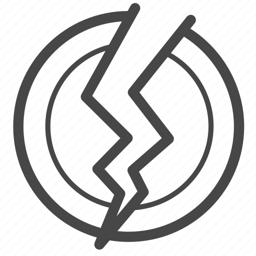 bankrupt, break, crisis, currency, economic, financial, stocks icon