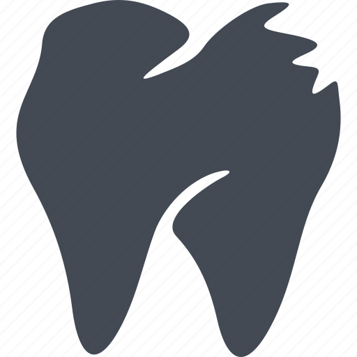 clinic, dental treatment, dentistry, health, smile, the affected tooth, treatment icon