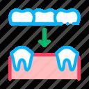 dental, prosthesis, stomatology icon