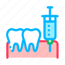 anesthesia, injection, stomatology icon