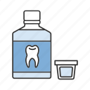 mouth, mouthwash, oral cavity, oral rinse, rinse, teeth, teethcare icon
