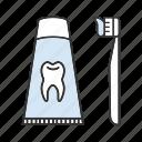 brushing, dentifrice, paste, teethcare, tooth, toothbrush, toothpaste