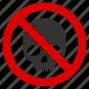 danger, dead head, no death, no skull, not toxic, pirate, poison icon