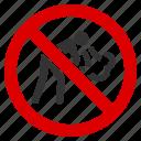 cough, no vomit, prohibited, restriction, sick patient, stop, vomitus icon