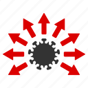 delivery, distribution, epidemic, infection, pandemic, pathogen, virus icon