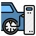 check, global, tires, warming icon