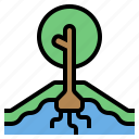 conserve, plant, tree, water icon