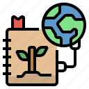 earth, learning, save, spread, study icon