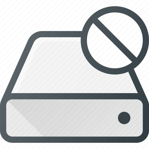 disable, disk, drive, error, hard, storage icon