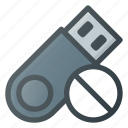 disable, disk, drive, error, pendrive, storage, usb icon