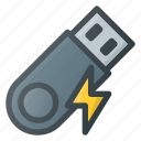 disk, drive, fast, flash, storage, usb icon