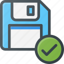 check, disk, drive, floppy, save, storage icon