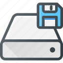 disk, drive, floppy, hard, save, storage icon