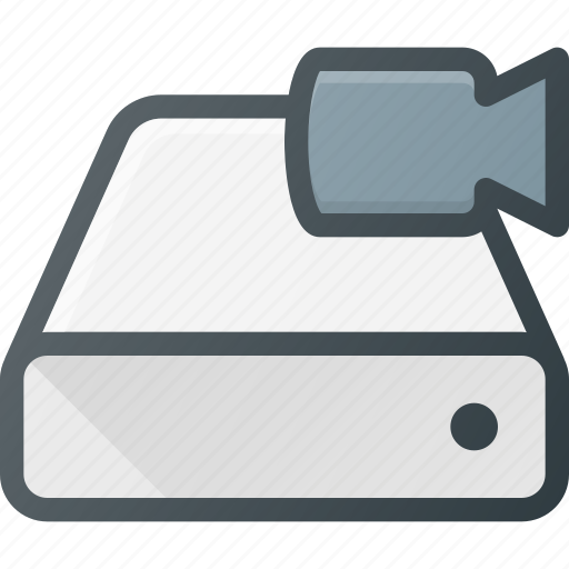 camera, disk, drive, hard, storage, video icon