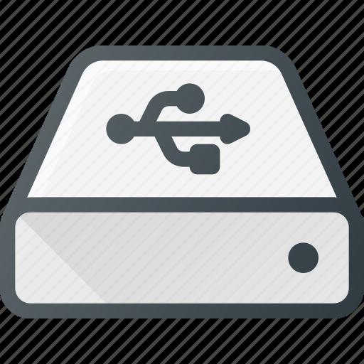 disk, drive, external, hard, storage, usb icon