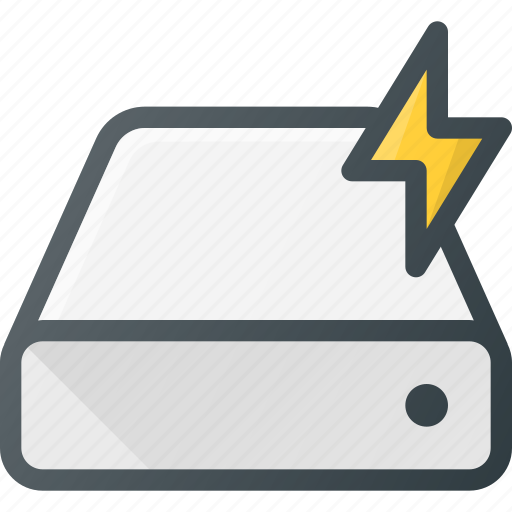 disk, drive, fast, hard, storage icon