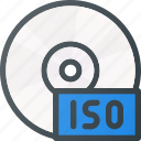 burn, disk, drive, image, iso, storage icon