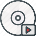 compact, disk, drive, media, storage icon