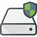 disk, drive, hard, protect, storage icon
