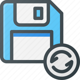 disk, drive, floppy, resave, save, storage icon