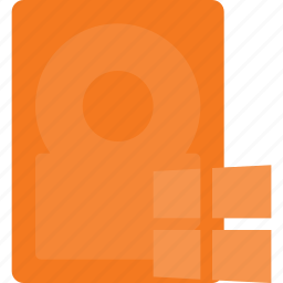 disk, drive, storage, system, windows icon