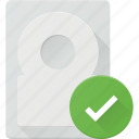 check, disk, drive, hard, storage icon