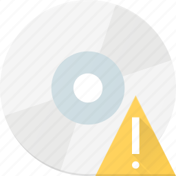alert, compact, disk, drive, storage icon