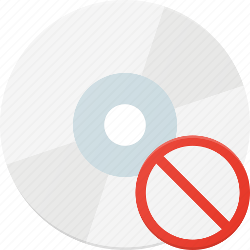 cd, compact, disable, disk, drive, error, storage icon