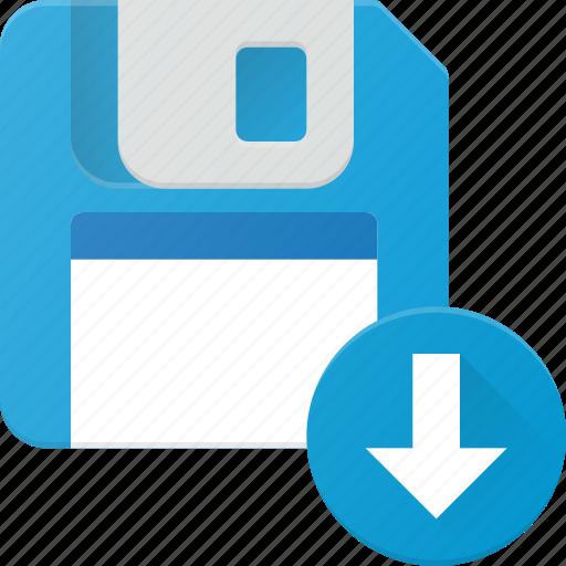 disk, download, drive, floppy, save, storage icon