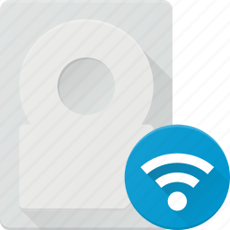 disk, drive, external, harrd, storage, wifi, wireless icon