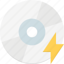 compact, disk, drive, fast, storage icon
