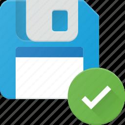 check, disk, drive, floppy, save, storage icon