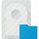 disk, drive, folder, hard, storage icon