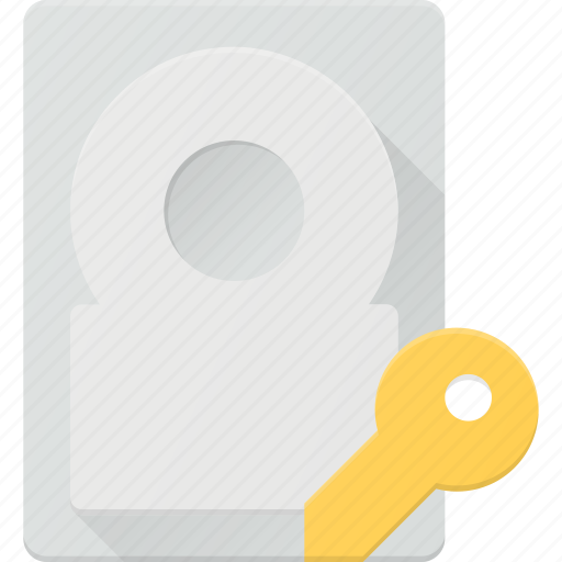 acces, disk, drive, hard, key, storage icon