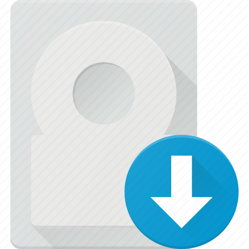 disk, download, drive, hard, storage icon