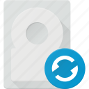 disk, drive, hard, reload, storage icon