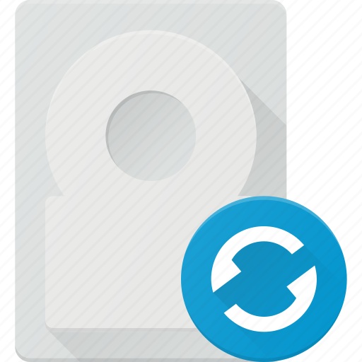disk, drive, hard, reload, storage icon
