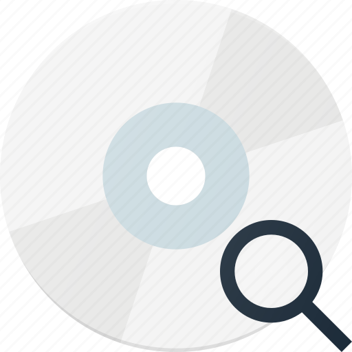 disk, drive, search, storage icon