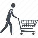 buyer, product, product sales, purchase, shopping center, store icon
