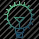 bulb, creative, idea, innovation, strategy icon