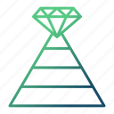business, growth, pyramid, strategy icon
